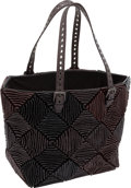 Luxury Accessories:Bags, Bottega Veneta Brown & Black Rivuletted Snakeskin Handmade Shoulder Bag. ...