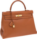 Luxury Accessories:Bags, Hermes 35cm Gold Gulliver Leather Retourne Kelly Bag with GoldHardware. ...
