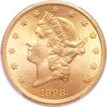Liberty Double Eagles, 1898 $20 MS64 PCGS....