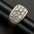 Estate Jewelry:Rings, Vintage Gent's Diamond Gold Ring. ...