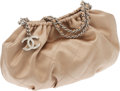 Luxury Accessories:Bags, Chanel Champagne Satin Croissant Evening Bag. ...