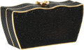 Luxury Accessories:Bags, Judith Leiber Full Bead Black Crystal Gift Box Minaudiere EveningBag. ...