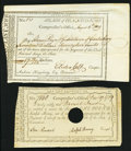 Colonial Notes:Connecticut, Connecticut Dec. 19, 1789 £1 Anderson CT 52 About New, HOC.Connecticut Aug. 4, 1809 $17.72 VF-XF.. ... (Total: 2 notes)