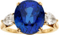 Estate Jewelry:Rings, Sapphire, Diamond, Gold Ring, Boucheron, French. ...