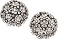 Estate Jewelry:Earrings, Pink Diamond, Diamond, Blackened White Gold Earrings. ...