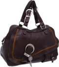Luxury Accessories:Bags, Christian Dior Brown Leather Double Saddle Gaucho Oversize Bag. ...