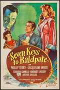 "Movie Posters:Mystery, Seven Keys to Baldpate (RKO, 1947). One Sheet (27"" X 41"").Mystery.. ..."