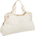 Luxury Accessories:Bags, Cartier White Leather Large Marcello Bag. ...