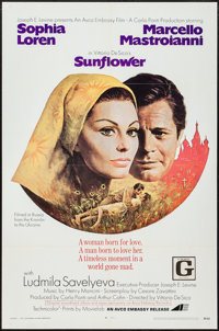 "Sunflower (Avco Embassy, 1970). One Sheet (27"" X 41""). Drama"