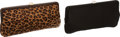Luxury Accessories:Bags, Set of Two- Lambertson Truex Black Satin and Leopard PonyhairEvening Clutches . ... (Total: 2 )