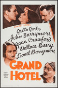 "Movie Posters:Academy Award Winners, Grand Hotel (MGM, R-1962). One Sheet (27"" X 41""). Academy AwardWinners.. ..."