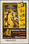 "Movie Posters:Adventure, Moby Dick (Warner Brothers, 1956). One Sheet (27"" X 41"").Adventure.. ..."