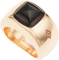 Luxury Accessories:Accessories, Hermes Gentlemen's 18K Rose Gold and Smoky Quartz Emile Ring. ...