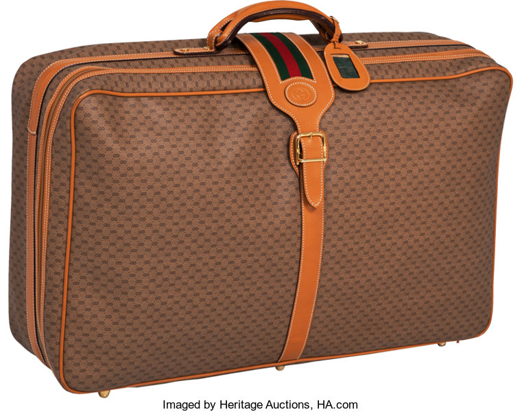 e2c7e627c Luxury Accessories:Travel/Trunks, Gucci Very Special Signature 1970's Large  Valise Suitcase.
