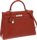 Luxury Accessories:Bags, Hermes Brick Calf Box Leather Retourne Kelly Bag with PalladiumHardware. ...