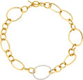 Estate Jewelry:Necklaces, Diamond, Two-Tone Gold Necklace, Faraone Mennella. ...