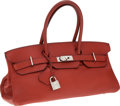 Luxury Accessories:Bags, Hermes 42cm Brick Togo Leather JPG Shoulder Birkin Bag withPalladium Hardware. ...