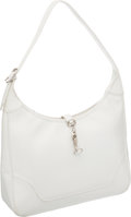 Luxury Accessories:Bags, Hermes 31cm White Epsom Leather Trim Bag with Palladium Hardware....