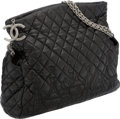 Luxury Accessories:Bags, Chanel Paris-Moscow Black Quilted Lambskin Leather Bag with TwistedSilver Chain. ...
