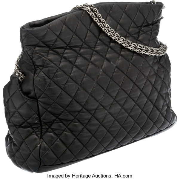 ebd13efd4866 Chanel Paris-Moscow Black Quilted Lambskin Leather Bag with