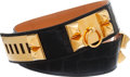 Luxury Accessories:Accessories, Hermes 68cm Collier de Chien Shiny Black Crocodile Belt. ...