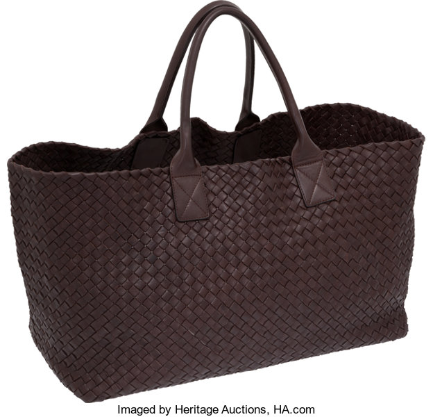 ce86f7ffd98c Bottega Veneta Chocolate Brown Intrecciato Leather Cabat Tote