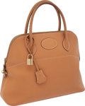 Luxury Accessories:Bags, Hermes 31cm Natural Courchevel Leather Bolide Bag with GoldHardware. ...