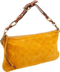Louis Vuitton Yellow Monogram Onatah Perforated Suede Shoulder Bag