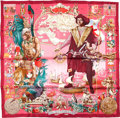 "Luxury Accessories:Accessories, Hermes Special Issue Maroon And Pink ""Ameriques,"" By Kermit Oliver Silk Scarf. ..."