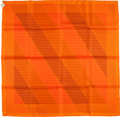 """Luxury Accessories:Accessories, Hermes Special Issue Limited Edition Orange """"H En Bias, Gates Of Central Park,"""" By Joachim Metz Silk Scarf. ..."""