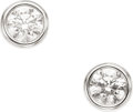 Estate Jewelry:Earrings, Diamond, Platinum Earrings, Elsa Peretti for Tiffany & Co.. ... (Total: 2 Items)