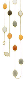 Estate Jewelry:Necklaces, Moonstone, Gold Necklace. ...