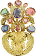 Estate Jewelry:Brooches - Pins, Sapphire, Gold Brooch, Buccellati. ...