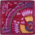 "Luxury Accessories:Accessories, Hermes Maroon, Gold, And Purple ""Brazil,"" By Laurence BourthoumieuxSilk Scarf. ..."