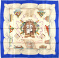 "Luxury Accessories:Accessories, Hermes Blue And Eggshell ""Cuisine De La France,"" By Robert DumasSilk Scarf. ..."
