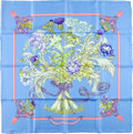 "Luxury Accessories:Accessories, Hermes Special Issue Light Blue And Pink ""Regina,"" By Leila Menchari Silk Scarf. ..."