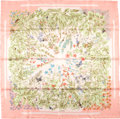 "Luxury Accessories:Accessories, Hermes Pink, Orange, And Green ""Prairie,"" By Antoine De JacquelotSilk Scarf. ..."