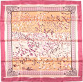 "Luxury Accessories:Accessories, Hermes Mauve And Cream ""Libre Comme L'Air,"" By Annie Faivre SilkScarf. ..."