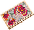 Luxury Accessories:Accessories, Judith Leiber Beaded Floral Design Card Holder. ...