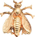 Luxury Accessories:Accessories, Isabel Canovas Gold Fly Pin. ...
