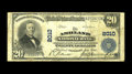 National Bank Notes:Kentucky, Ashland, KY - $20 1902 Plain Back Fr. 654 The Ashland NB Ch. #2010. This piece spent some time folded up in a safe plac...