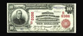 National Bank Notes:Kentucky, Madisonville, KY - $10 1902 Red Seal Fr. 615 The Morton NB Ch. #(S)8386. Kelly records just two serial numbers on this ...