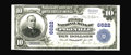 National Bank Notes:Kentucky, Pikeville, KY - $10 1902 Plain Back Fr. 624 The First NB Ch. #6622. This note has picked up a few light storage bends o...
