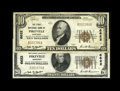 National Bank Notes:Kentucky, A Pair of First National Bank of Pikeville Notes. Pikeville, KY -$10 1929 Ty. 1 First National Bank Ch. # 6622 Very Fine... (Total:2 notes)