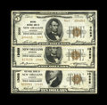 National Bank Notes:Louisiana, Trio of Notes from New Orleans, LA - $5 1929 Ty. 1 Whitney NB Ch. # 3069, $10 1929 Ty. 1 Hibernia NB Ch. # 13688, ... (Total: 3 notes)