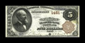 National Bank Notes:Maine, Portland, ME - $5 1882 Brown Back Fr. 469 The National Traders Bank Ch. # 1451. A very scarce Portland bank which issued...