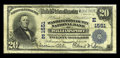 National Bank Notes:Maryland, Williamsport, MD - $20 1902 Plain Back Fr. 651 The WashingtonCounty NB Ch. # (E)1551. Large notes only from this wester...