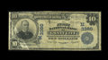 National Bank Notes:Missouri, Grant City, MO - $10 1902 Plain Back Fr. 625 The First NB Ch. #(M)3380. Some roughness is noted on the top margin, but ...