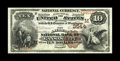 National Bank Notes:Missouri, Kansas City, MO - $10 1882 Brown Back Fr. 482 The American NB Ch. #(M)3544. A high grade example from a very scarce ban...