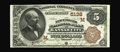 National Bank Notes:Missouri, Kansas City, MO - $5 1882 Brown Back Fr. 477 The New England NB Ch.# (M)5138. A beautiful example which is the only ser...
